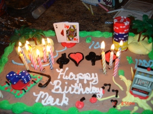 mark's 'casino royale' theme cake